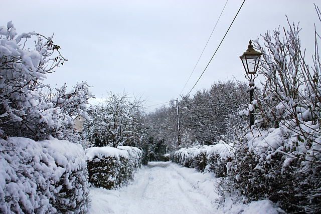 Watery Lane in the snow