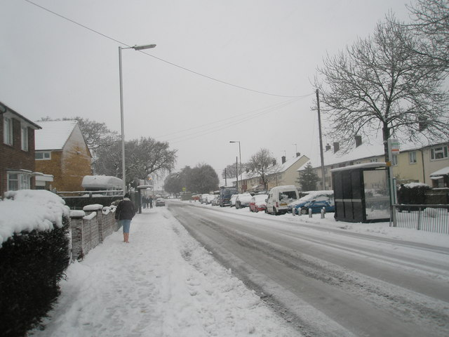 A snowy Barncroft Way