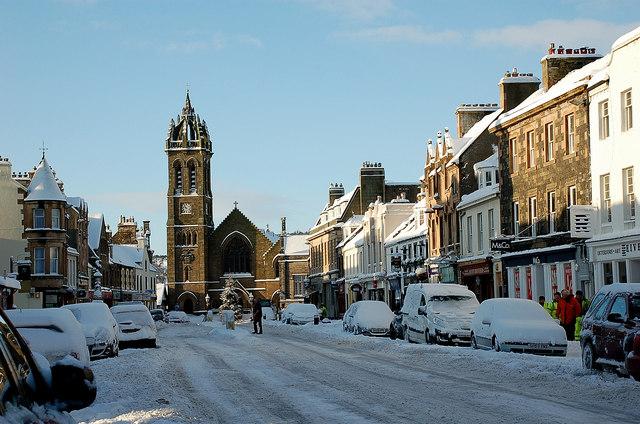 A winter morning, Peebles High Street