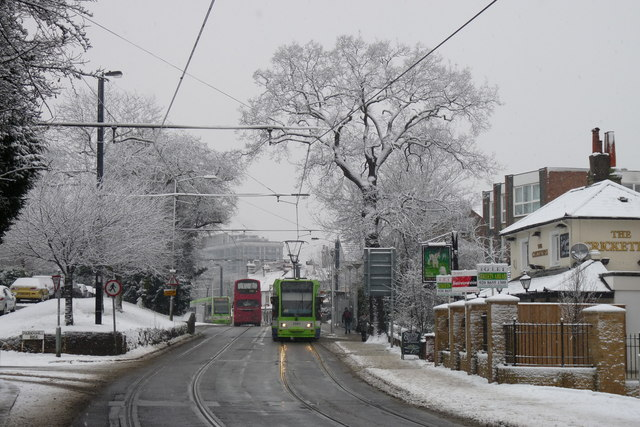 Croydon Trams in the Snow (10)