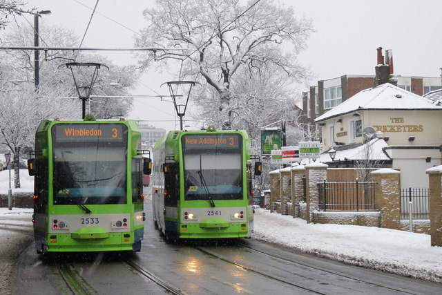 Croydon Trams in the Snow (11)
