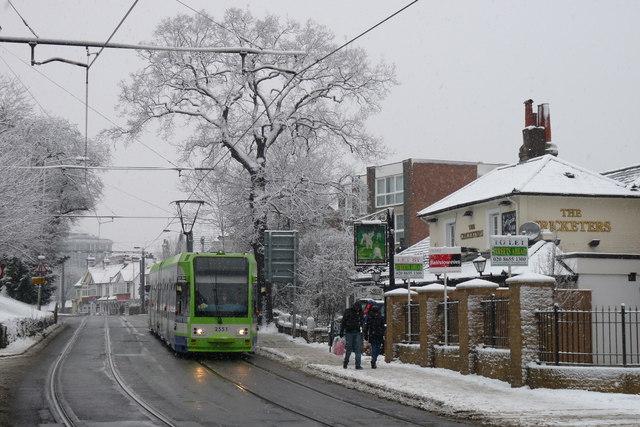 Croydon Trams in the Snow (12)