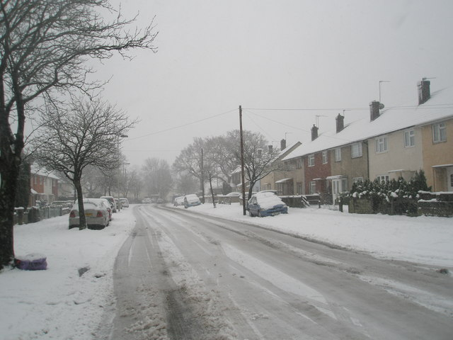 A grey January morning in Barncroft Way