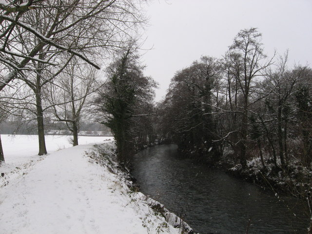 River Ebbw in Tredegar Park