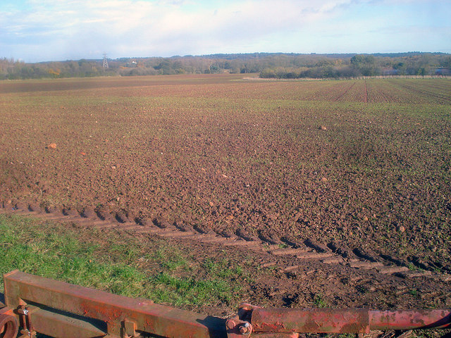 Arable land near the Linby Trail