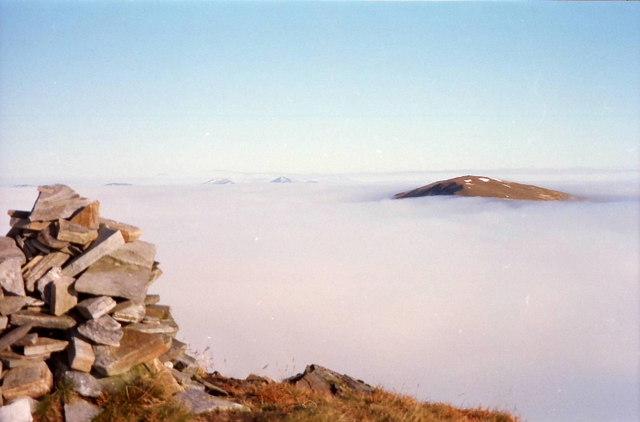 Summit cairn on Sgùrr nan Ceannaichean