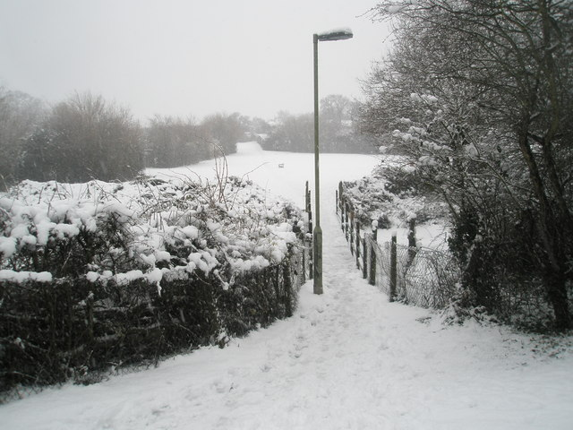 Snowy scene by the footbridge over the Hermitage