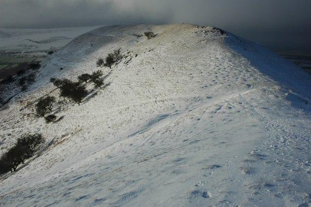 Ridge above Castell Dinas