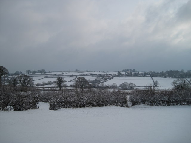 Hardington Mandeville in January snow