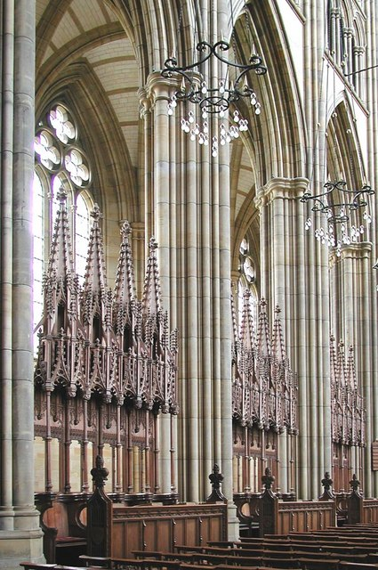 Lancing College Chapel, Sussex - Interior