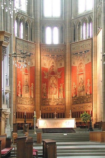 Lancing College Chapel, Sussex - Chancel