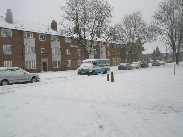 A snowy scene at Sheffield House