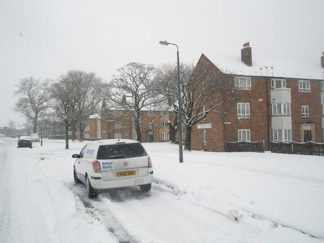 Mid section of a snowy Stockheath Lane
