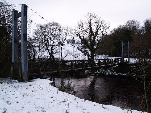 Pedestrian Suspension Bridge near Lanerton