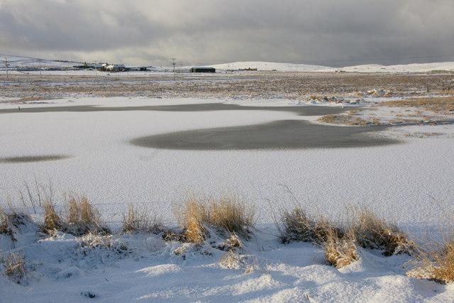 Frozen Haroldswick pool