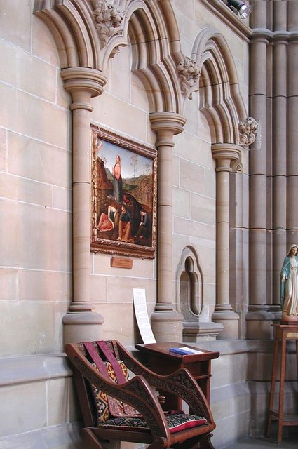 Lancing College Chapel, Sussex - Sanctuary detail