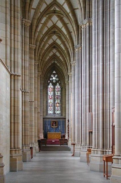 Lancing College Chapel, Sussex - Aisle