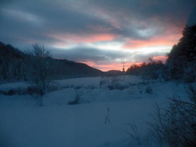 Sunset in Gleann Liath