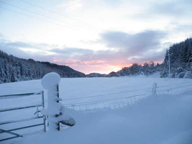 Sunset approaching in Gleann Liath