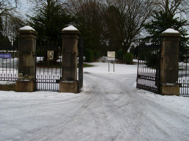 Gates at Abbey Cemetery