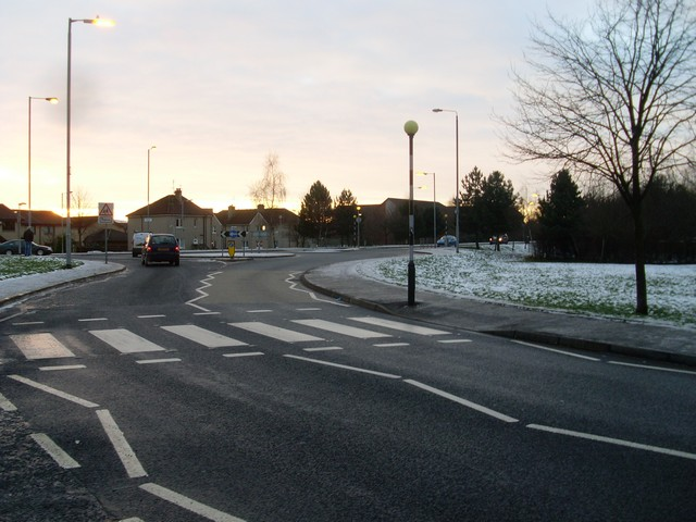 Zebra crossing and roundabout