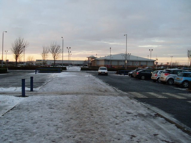 Looking to the car showroom in Phoenix Business Park