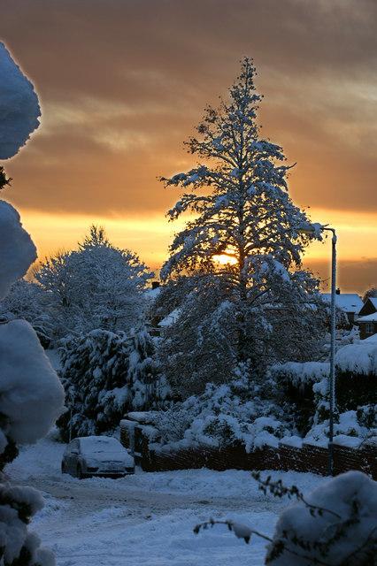 Winter sunrise in Billinge