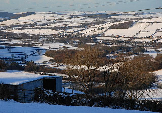 Dyffryn Rheidol under snow