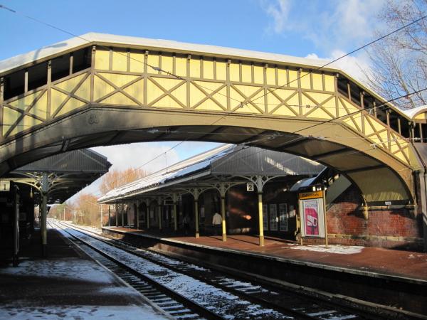 Footbridge at Cullercoats Metro Station