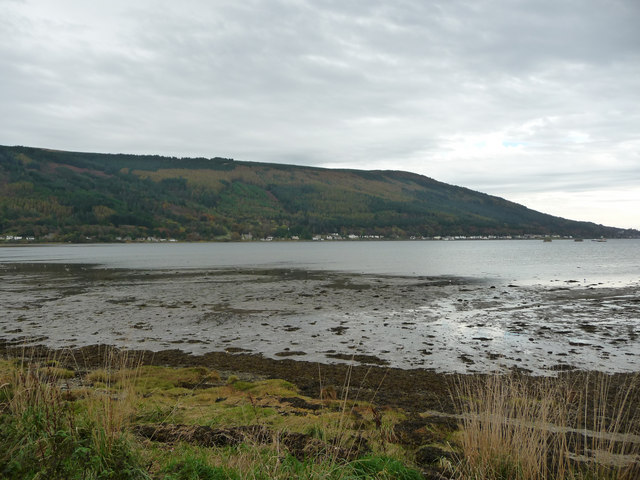 Holy Loch from picnic area below Brox Wood