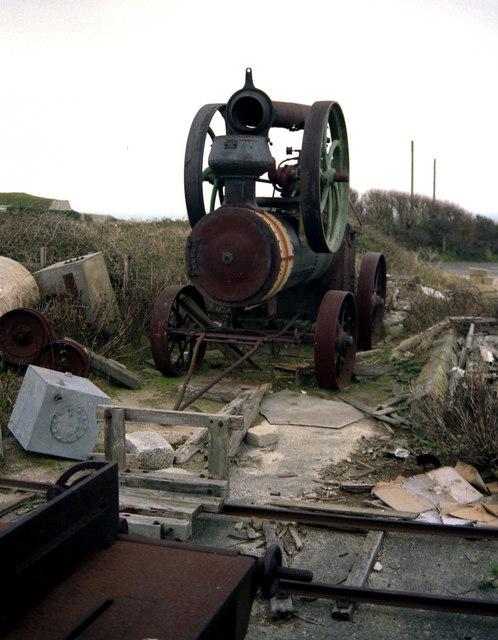 Portable engine on the Isle of Portland