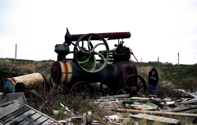 Portable engine on the Isle of Portland