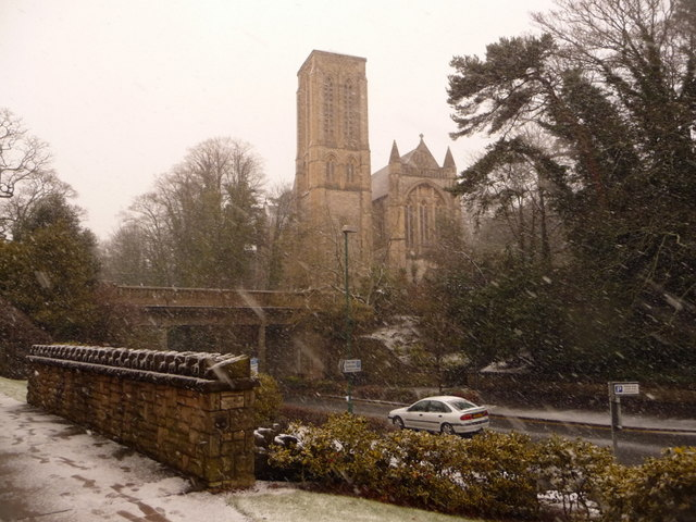 Bournemouth: St. Stephen's through the snow