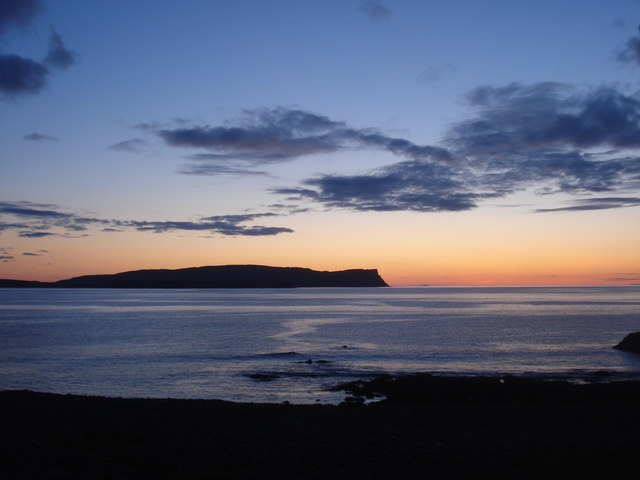 View of Canna from Guirdil at dusk