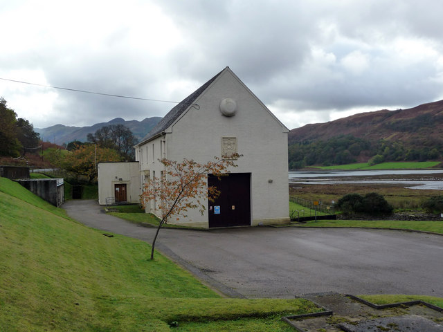 Hydro-electric power station at head of Loch Striven