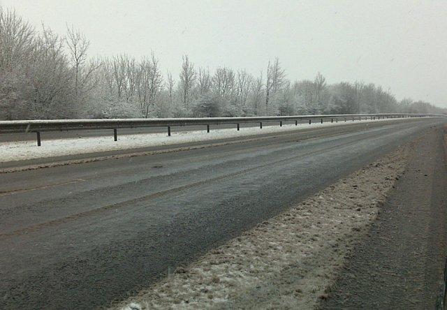 A snowy A34