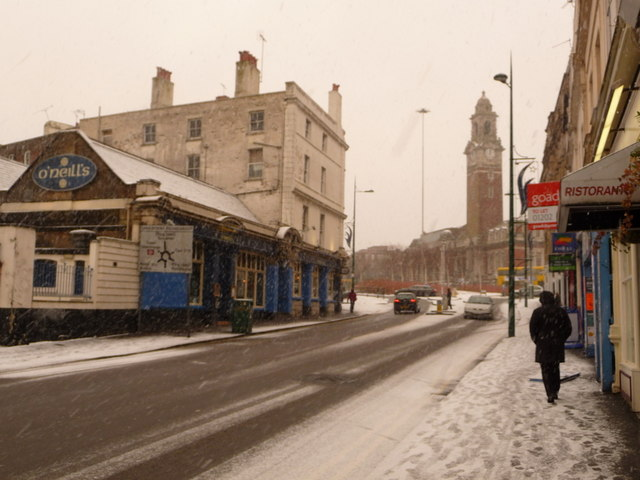 Bournemouth: the Lansdowne from Old Christchurch Road