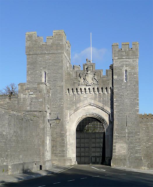 Castle gatehouse at Arundel, West Sussex