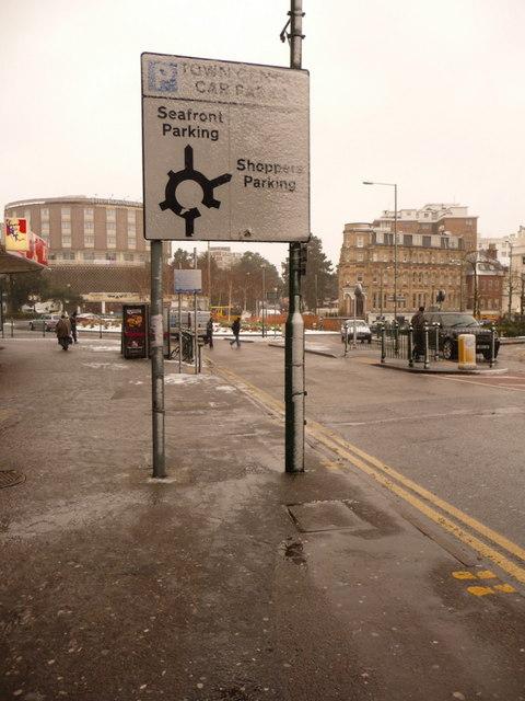 Bournemouth: Lansdowne car parking directions