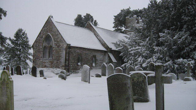 St Peters Church on a Snowy Winters Day