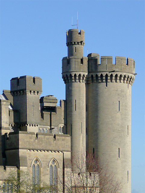 Arundel Castle (detail), West Sussex
