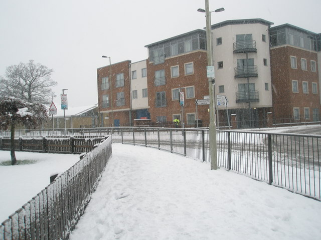 Looking from Purbrook Way towards Dunsbury Way