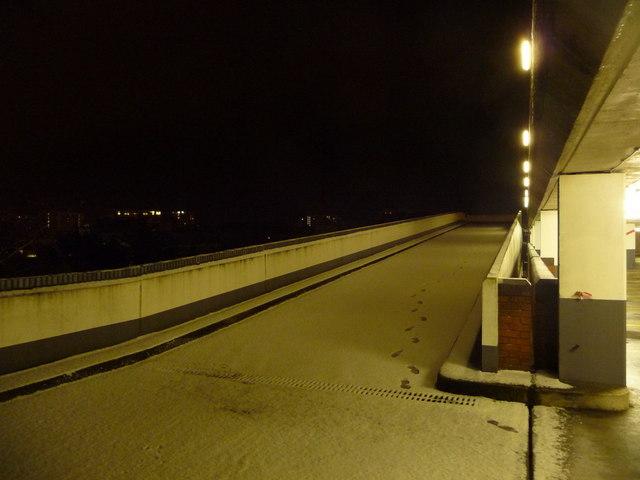 Bournemouth: multi-storey ramp in snow