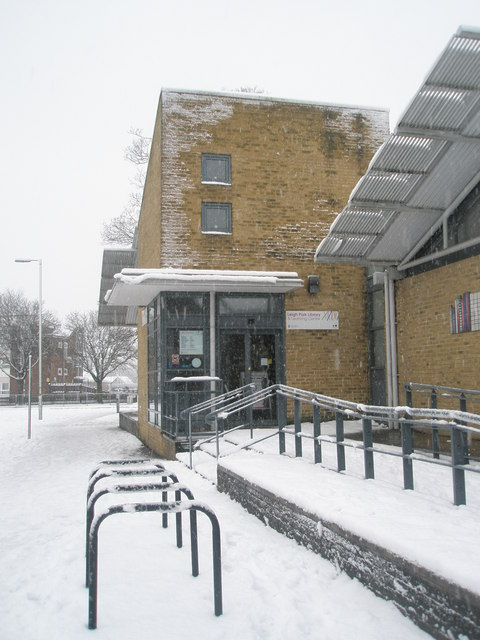 Leigh Park Library on a snowy January morning