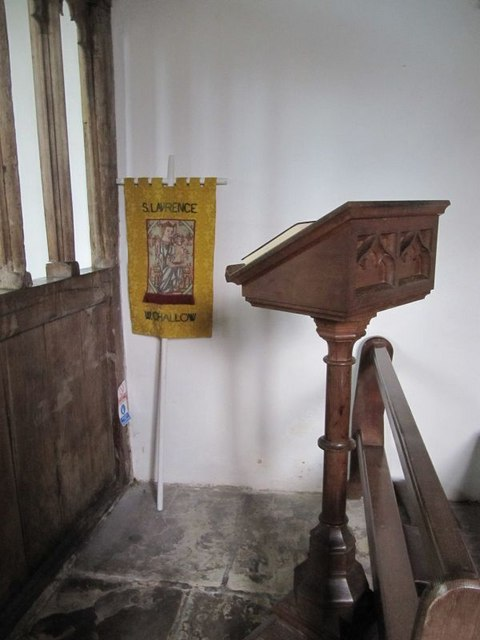 Lectern by the screen