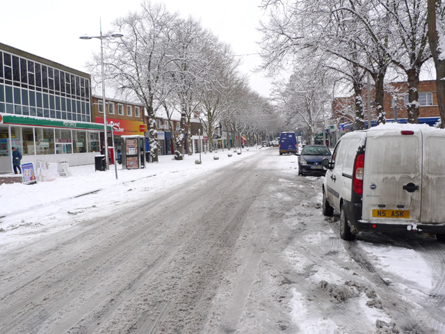 A snowy Queensway