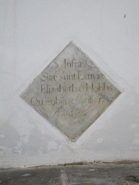 Memorial in the nave