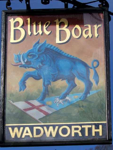 Sign for the Blue Boar