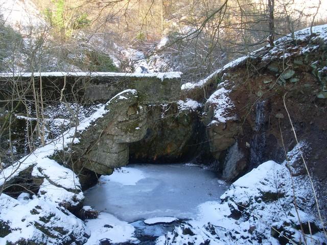 Frozen pool of water on Killoch Burn