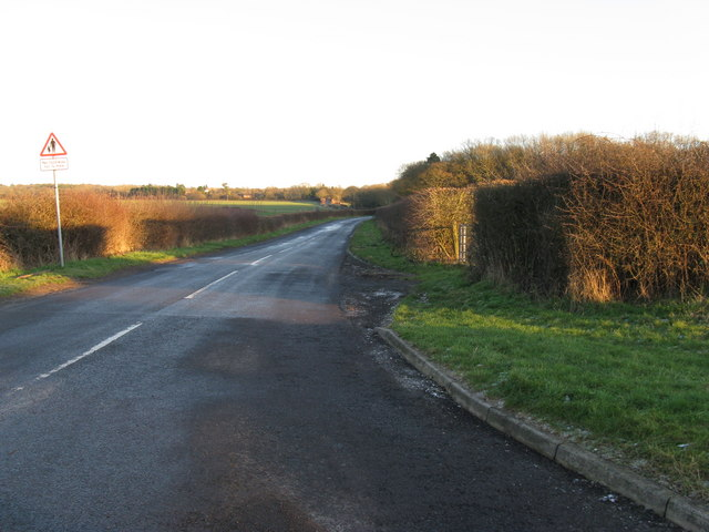Looking east along Christ's Hospital Road